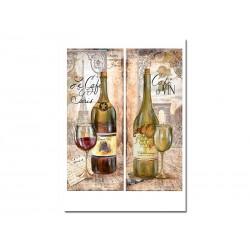 "Декупажная бумага ""Вино. Париж"""