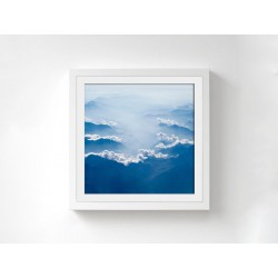 "Постер в раме ""Белые облака"""