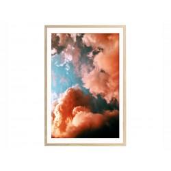 """Постер в раме """"Розовые облака"""""""
