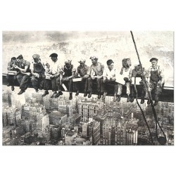 """Постер """"Обід на хмарочосі. 1932"""""""