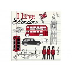 "Постер ""I love London"""