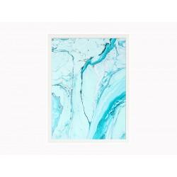 """Постер в раме """"Blue marble"""""""