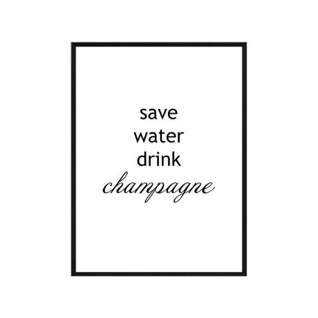 "Постер в раме ""Champagne"""