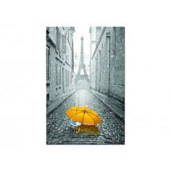 """Постер на стекле """"Желтый зонт"""""""