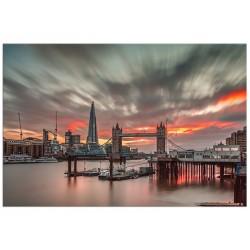 "Постер на стекле ""Sunset London"""