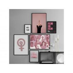 """Серія постерів в рамі """"Feminism"""""""