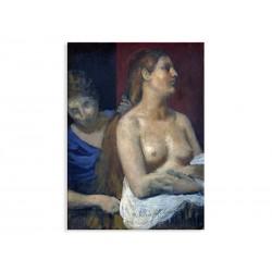 """Фотокартина """"Покоївка, що розчісує жіноче волосся. П'єр-Сесіль Пувіс-де-Шаван"""""""