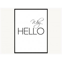 """Постер в раме """"Hello"""""""