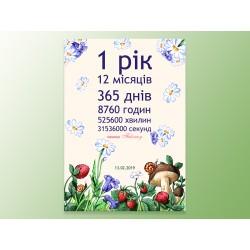 """Постер """"1 год"""""""