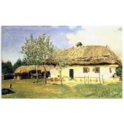 "Репродукція ""Українська хата. 1880. Ілля Рєпін"""