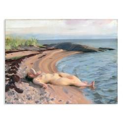 """Репродукція """"На пляжі 1910. Андерс Цорн"""""""