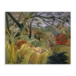 """Репродукція """"Напад в джунглях, 1891. Анрі Руссо"""""""