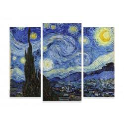 """Модульна фотокартина """"Ван Гог. Зоряна ніч"""""""