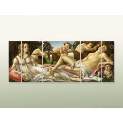 """Модульна фотокартина """"Сандро Боттічеллі. Венера і Марс"""""""