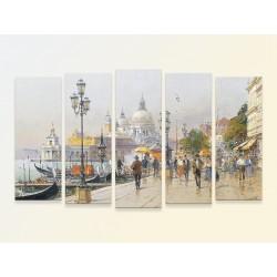 """Модульная фотокартина """"Детлев Нітшке. Венеція, набережна з видом на С. М. Салюте"""""""