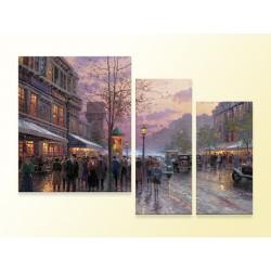 """Модульна фотокартина """"Бульварні вогні, Париж. Томас Кінкаде"""""""