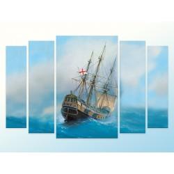 """Модульна фотокартина """"Вітрильний човен"""""""
