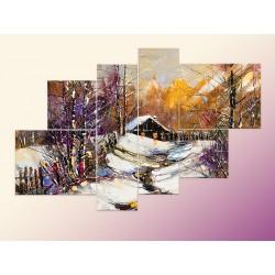 """Модульна фотокартина """"Зимовий краєвид"""""""