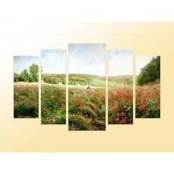 """Модульна фотокартина """"Макове поле"""""""