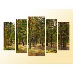 """Модульна фотокартина """"Ранок у сосновому лісі. Іван Шишкін"""""""