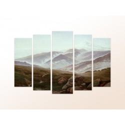"""Модульна фотокартина """"Ісполінови гори. Каспар Давид Фрідріх"""""""