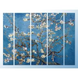 """Модульна фотокартина """"Квітучі гілки мигдалю. Вінсент ван Гог"""""""