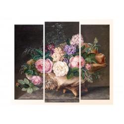 """Модульна фотокартина """"Дует, квіти в мушлі. Август Плагман"""""""