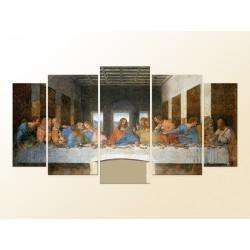 """Модульна фотокартина """"Тайна вечеря Стінопис, Леонардо да Вінчі"""""""
