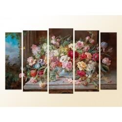 """Модульна фотокартина """"Натюрморт з квітами. Ганс Зацка"""""""