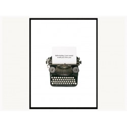 "Постер в рамі ""Typewriter"""