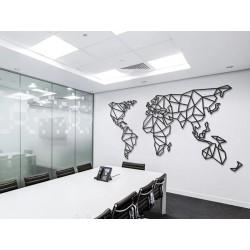 """Настінний декор """"Карта світу"""""""