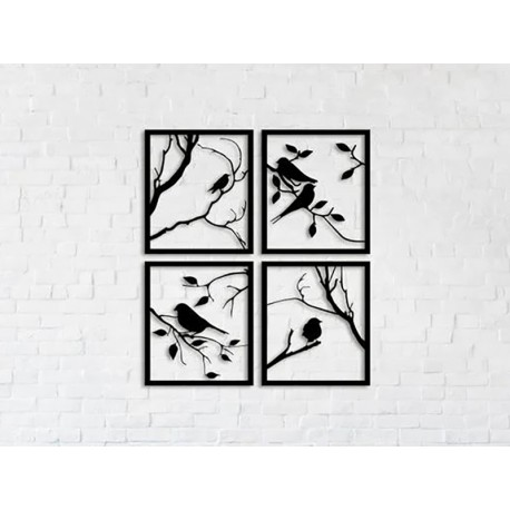 """Настінний декор """"Птахи на гілці"""""""