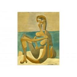"""Фреска """"Сидящая купальница. Пабло Пикассо"""""""