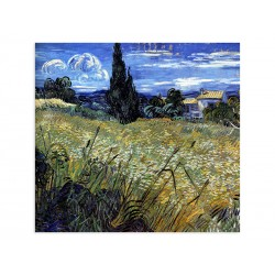 "Фреска ""Пшеничне поле з кипарисами. Вінсент Ван Гог"""