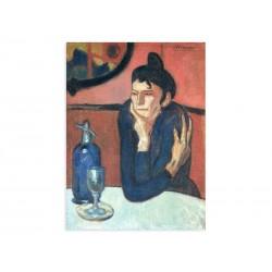 """Фреска """"Любителька абсенту. Пабло Пікассо"""""""