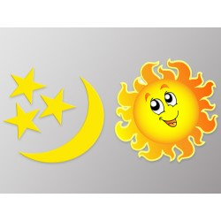 "Наклейка ""Сонце та Місяць"""