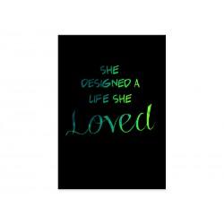 "Фотокартина ""She designed a life she loved"""