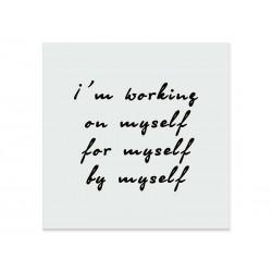 """Фотокартина """"Я працюю над собою, для себе, на себе"""""""