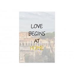 "Фотокартина ""Love begins at home"""