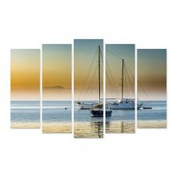 """Модульна картина """"Човен в морі"""""""