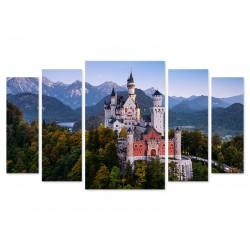 """Модульна картина """"Замок в Баварії, Німеччина"""""""