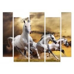 """Модульна картина """"Білі коні"""""""