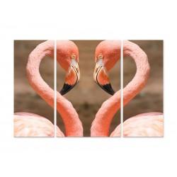 "Модульна картина ""Flamingo heart"""