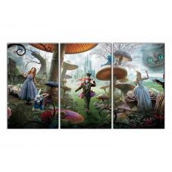 """Модульна картина """"Аліса у Дивокраї"""""""