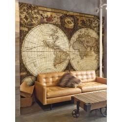 """Фотошпалери """"3D карта світу часів Колумба"""""""