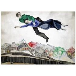 """Репродукція """"Над містом, 1914-1918. Марк Шагал"""""""