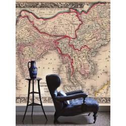 """Фотоошпалери """"Старовинна карта Карта Індустану, Індії, Китаю та Тибету"""""""