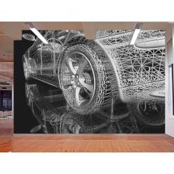 "Фотшпалери ""3d Sport Car Model"""