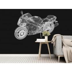 "Фотошпалери ""3d bike model"""