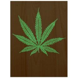 """Постер на дереві """"Cannabis"""""""